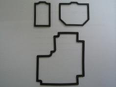 コンプレッション成型機で製作した製品(小型部品)